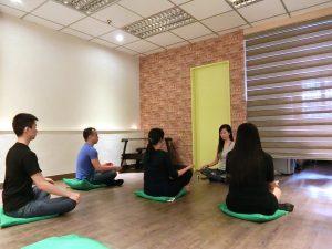 V Girls Club meditation event