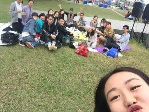 V Girls Club Tamar Park picnic event
