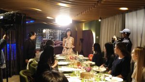 V Girls Club vegan chef table event